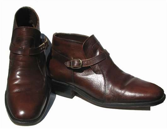 Mens Brown 60s Beatle Ankle Boots