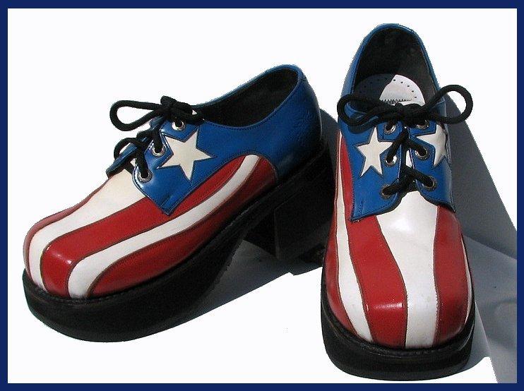 Mens 1970s platform shoes