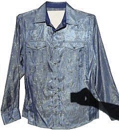 Men 39 s repro silver pink liquid 70s disco shirt for Mens shirts with snaps instead of buttons