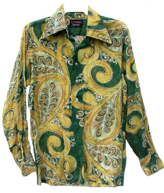 Vintage mens 70s fly collar psychedelic hendrix shirt sciox Image collections