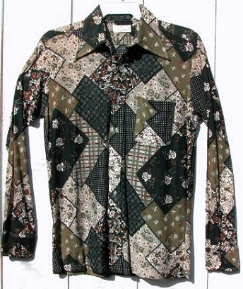 Mens teen vintage dark green fly collar disco 70s shirt actual vintage fly collar shirts are rare this wide collared gem is made out of that slinky polyester fabric this brady bunch classic is exploding with sciox Image collections