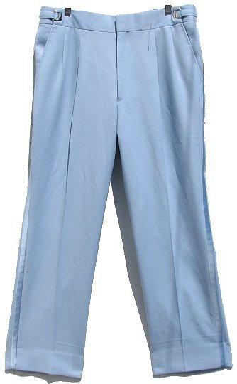 Mens Light Blue Pastel Polyester Tux Pants